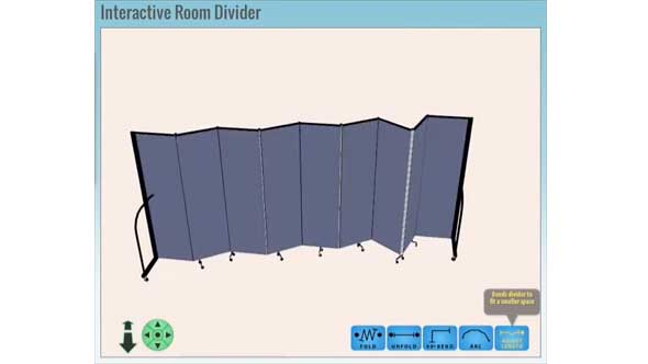 Screenflex virtual divider